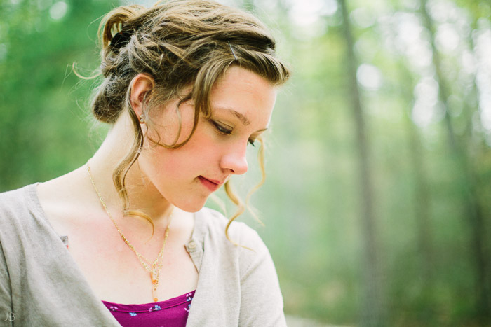 virginia senior portraits in woods autumn and spring film look with vsco