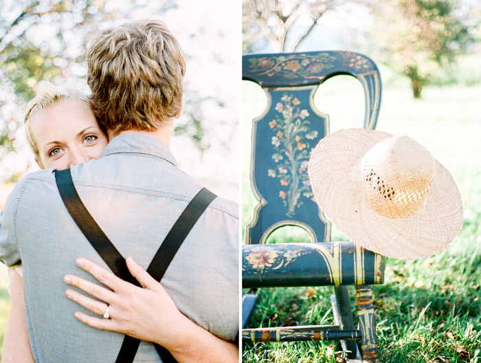 portra 160 film engagement session