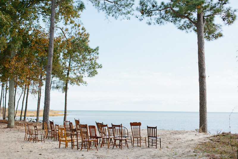 film photos of private intimate backyard wedding on the chesapeake bay in kilmarnock Virginia