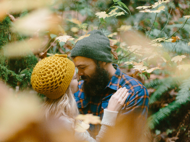 forest park engagement session in portland oregon