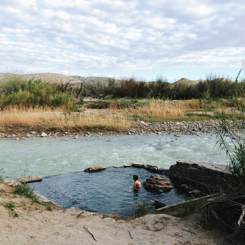 the hot springs in big bend national park texas