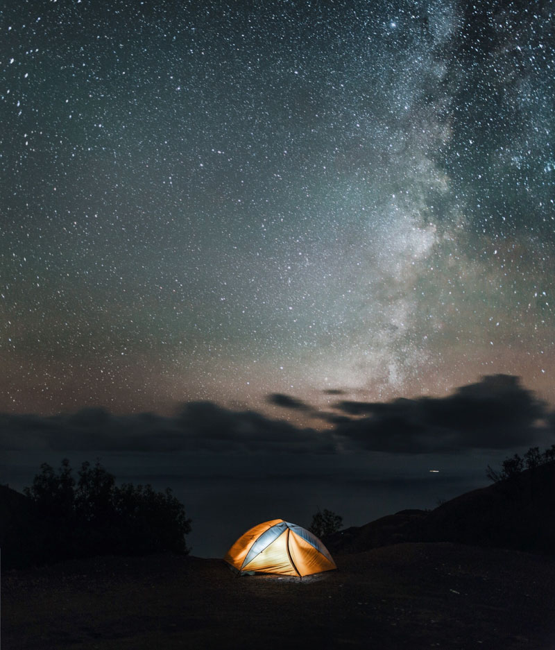 camping under the stars in big sur california
