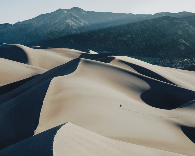 sunrise at the vast great sand dunes national park in colorado