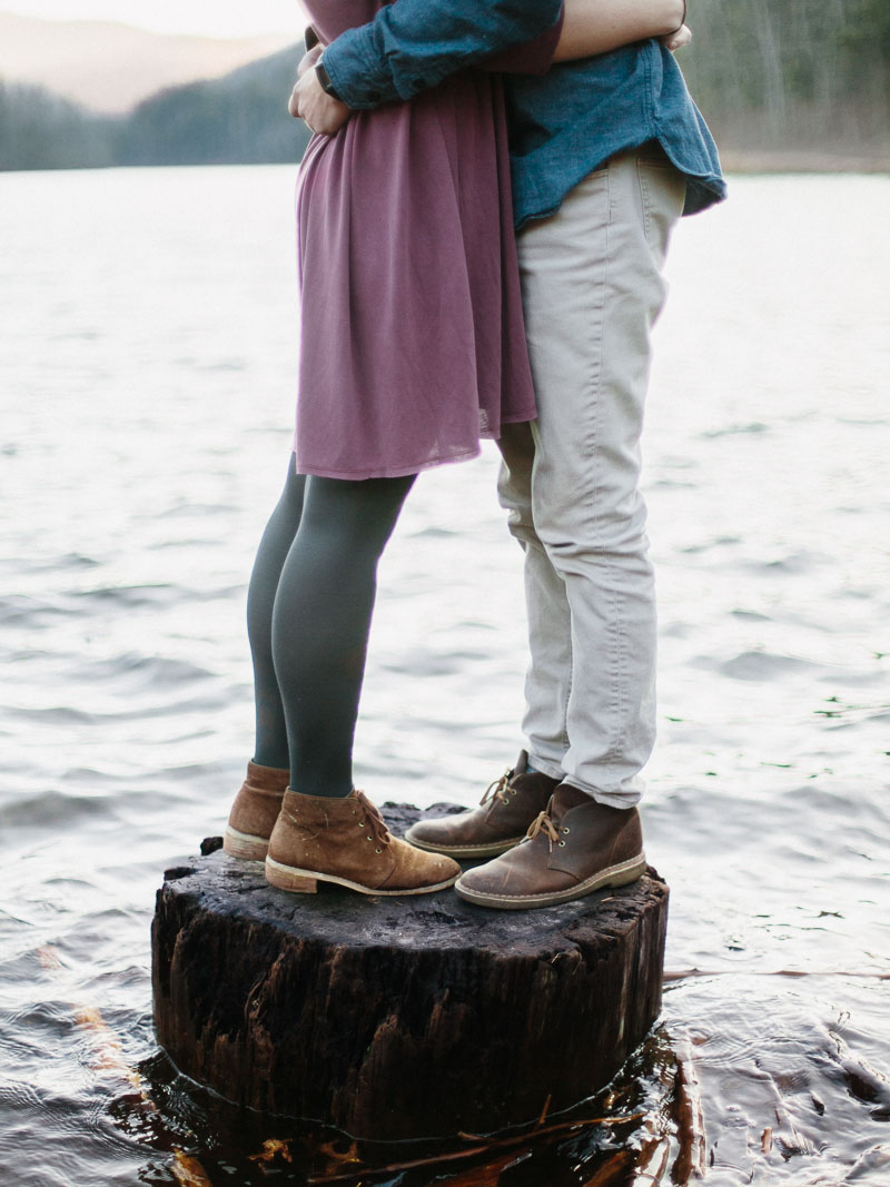 adventurous switzer lake engagement session in virginia - portra400