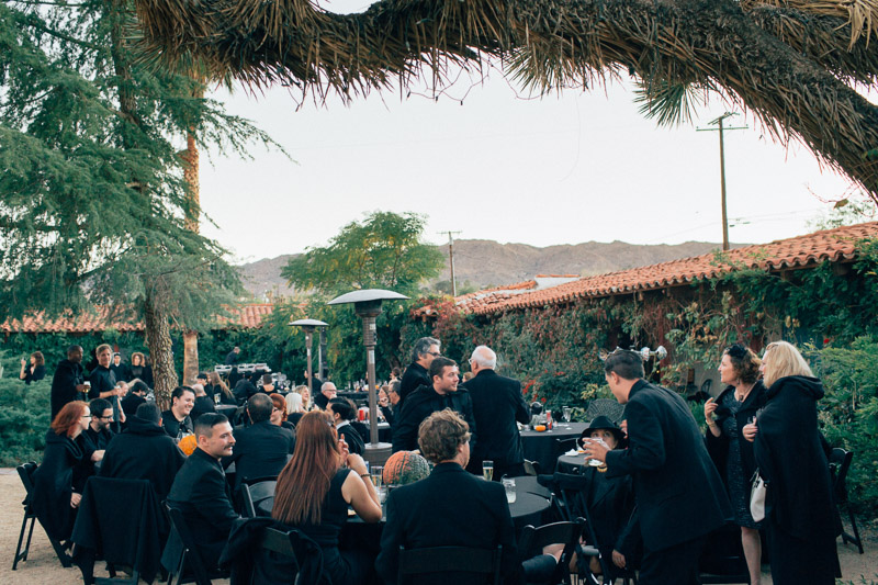 california desert wedding on halloween at the Joshua Tree Inn