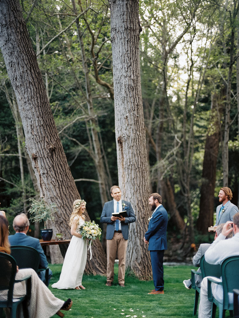 california wedding in Big Sur at the Big Sur River Inn