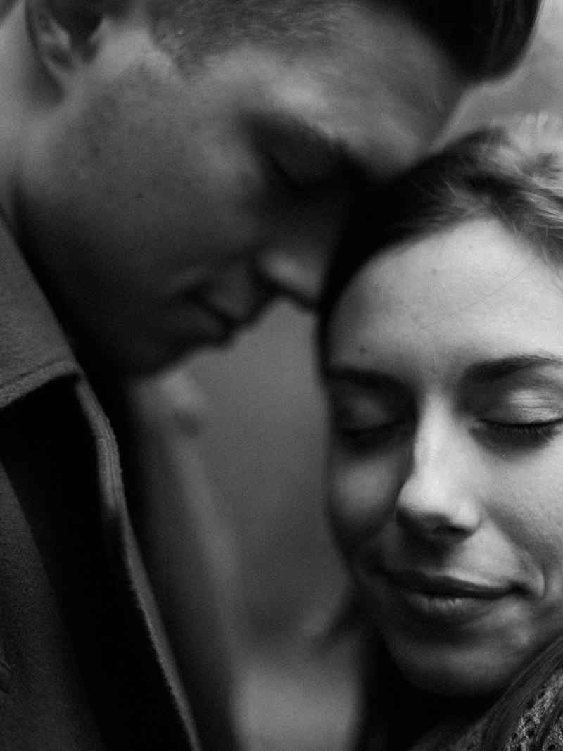 black and white photograph forest engagement session mastinlabs ilford hp5
